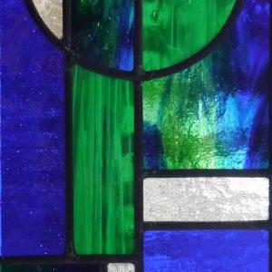 Bespoke stained glass Mondrian panel