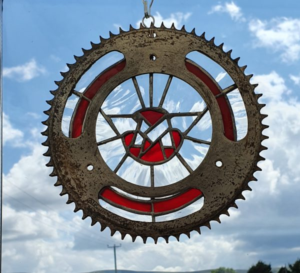 Ariel logo motorcycle clear and red and red Sprocket