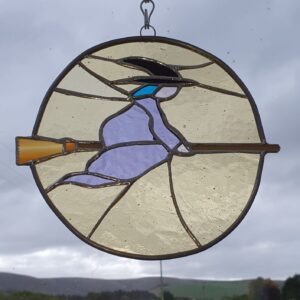 blue haired witch suncatcher