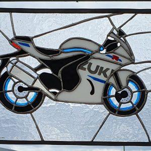 Suzuki Motorbike Suncatcher